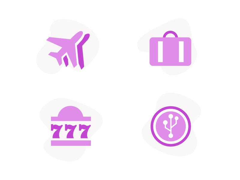 High-Risk Icons - Flat Design