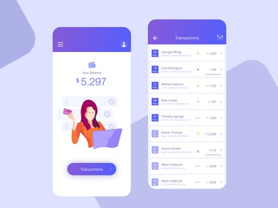 Transactions Report - Banking App