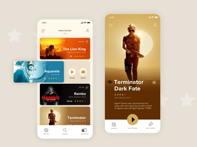 Movie App mobile app design app designer app design trailer app product design clean design ui ux designer ui ux design ui ux ui movie app film app clean app movie app app