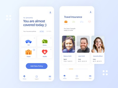 Insurance Wallet App sketch vector ui  ux design mobile app digital agency clean ui product designer travel app banking app insurance app ui ux design ui design ui ux clean design