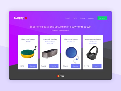 Landing page contest online payments brand digital agency clean website design web design landing page design product design payment method product page product card contest payment gateway