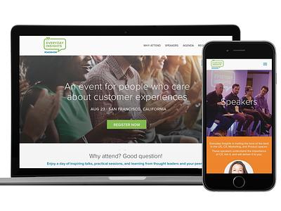 Everyday Insights - Roadshow website branding event design creative direction web design