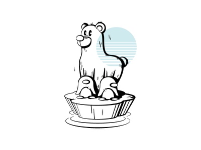 Less is more, but is it? global warming bear illustration bear problem character cartoon jonder graphic graphic design design illustration vector