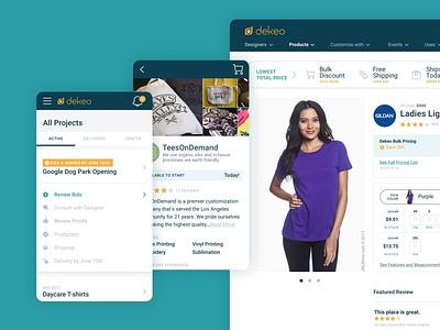 Dekeo ecommerce marketplace web design user interface design user interface design system ux ui