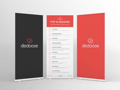 Dedoose Rollup Banners  graphic design branding infographic print banner