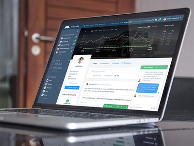 Investor Instant Messaging Web App ux visual design user interface design app ui stock market chat trading stock investment graphic design app design ui design web app instant messaging im investor