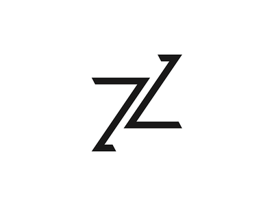 Monogram for zippyzealous contractor freelance freelance designer minimal clean graphic design monogram logo