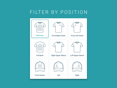 T-shirt & Hat Customization Icons for eCommerce Site design system design ui vector illustration responsive design web design graphic design visual design user interface ecommerce design ecommerce