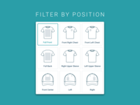T-shirt & Hat Customization Icons for eCommerce Site