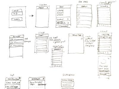 FitStation App Concept Sketches app designer mvp product design app design design user interface design creative direction user interface visual design fitness app fitness concept sketch