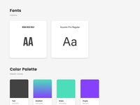 FitStation Styleguide - Fonts and Color Palatte
