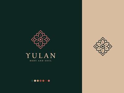 Yulan Body and Soul Rebrand authenticity gem flower soul aztec pilates yoga vector branding design logo illustration rebrand