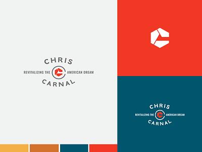 Chris Carnal Public Speaker Branding shapes traditional america red design branding logo design logo
