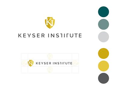 Keyser Institute Logo Rebrand yellow vector design branding institute badge shield rebranding logo logo design