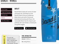 Bandit Wine - Individual Wine View