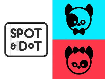 Spot & Dot puppies dogs vector branding logo