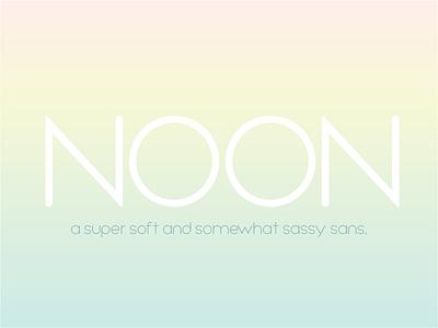 NOON font illustrator vector type typography fontself fonts font