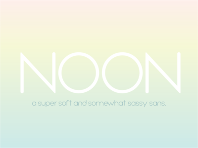 NOON font illustrator vector type typography fontself fonts font