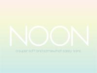 NOON font