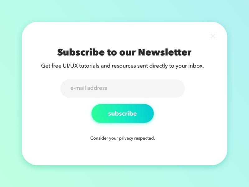 001: Signup forms form email newsletter registration signup dailyui