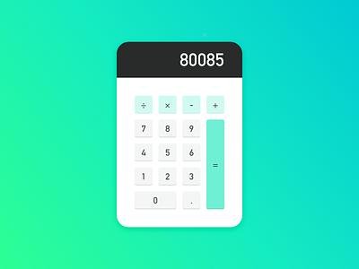 004: Calculator daily ui ui vector calculator dailyui