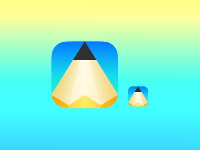 005: App Icon vector drawing pencil application icon app dailyui