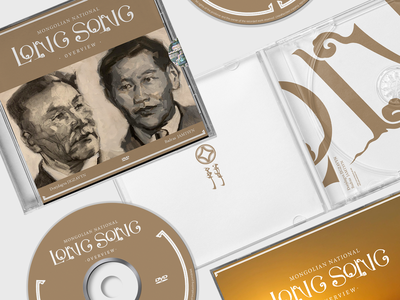 Mongolian National LONG SONG overview logotype graphic design design