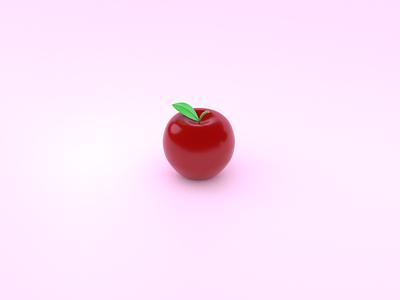 apple苹果-by blender 3d ui
