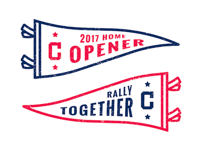 Indians Home Opener vector pennant flag spot indians opener mlb baseball illustration