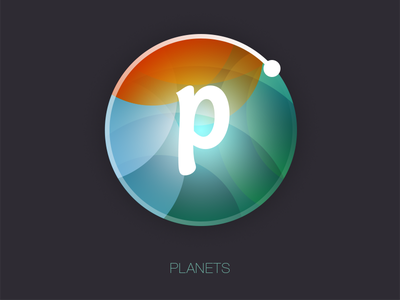Planets icon app music simple icon logo identity geometry mobile web color space ui