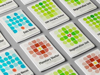 Manuals Covers product illustration book geometric grid