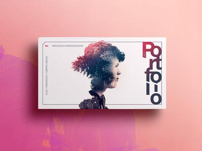 Portfolio Cover double exposure poster work wall showcase pdf creative typograpy photo