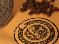 International Coffee Conspiracy Logo || Stamp