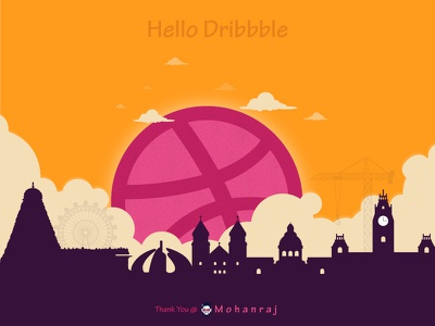 Hello Dribbble! It is my first shot! hello designer dribbble designers chennai