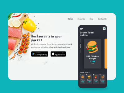 Online Order Food - Mobile App