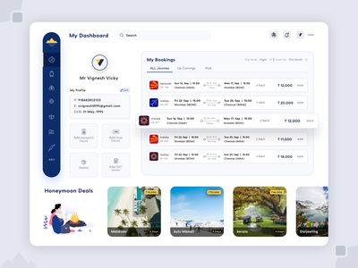 Travel Booking Dashboard
