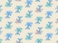 RGB palms pattern