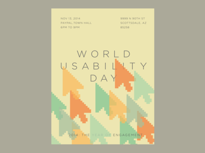 World Usability Day poster web usability world usability day poster design pastel southwest arrow icon vector illustrator pattern