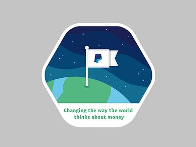 Sticker for PayPal badge emblem illustrator illustration sticker vector logo flag geometric gradient space paypal