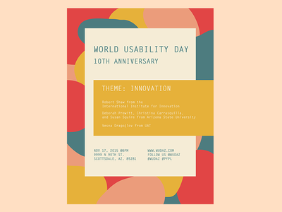 World Usability Day concept pastels vector illustration innovation swiss pattern texture layout typography poster ui ux