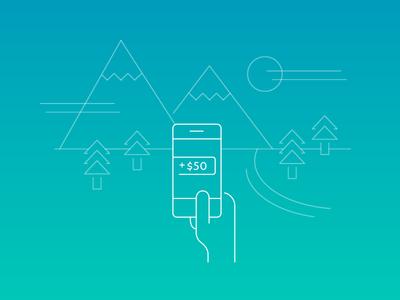 Illustration for new app