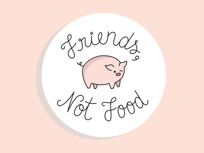 Animals are friends, not food!