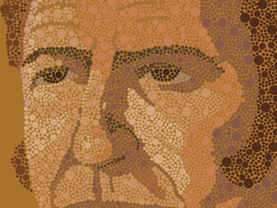 Illustration Close Up face expression pointillism nose eyes eye face close-up
