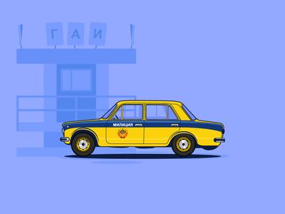 Soviet police car VAZ 2101