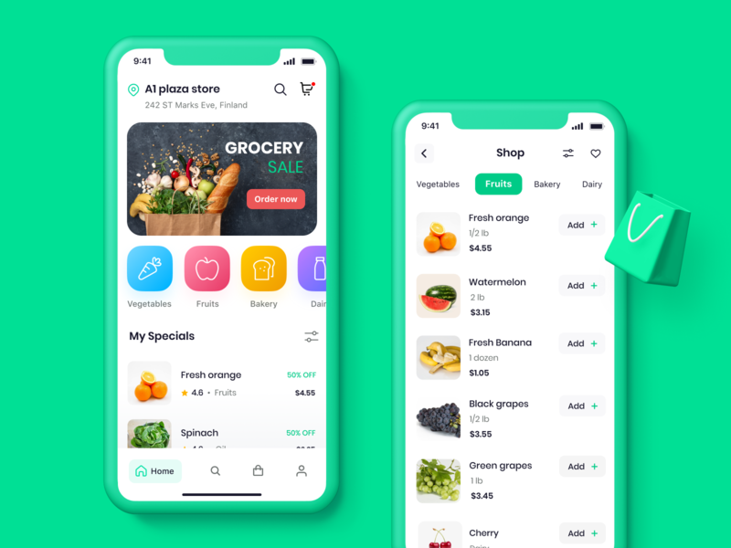 Grocery Delivery App fresh colors uidesign iphone app uiux designer ui  ux mobile app online shop retail app grocery app uiuxdesign uiux mobile ui grocery store grocery online online future grocery app food app app development app designer app design