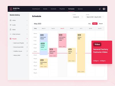 Media Content Management Platform media calendar ui media app web app uiux design ux design ui design cms