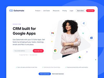 Google CRM google uiux design ui design gmail google apps hero banner landing page product design uiuxdesign crm google crm