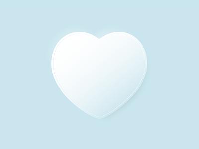 Valentine's day neumorphic neumorphism minimal icon illustration minimalism valentines day valentine day 14 february heart vector