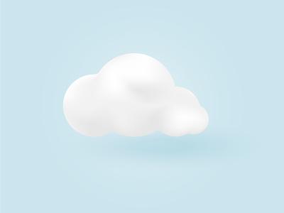 White cloud monochrome white cloud cloud app abstract app design mobile minimal vector illustration minimalism
