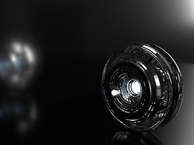 Hyper core render abstract model object 3d